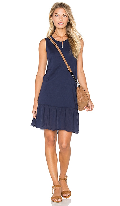 Nation LTD Ariel Ruffle Tank Dress in Navy
