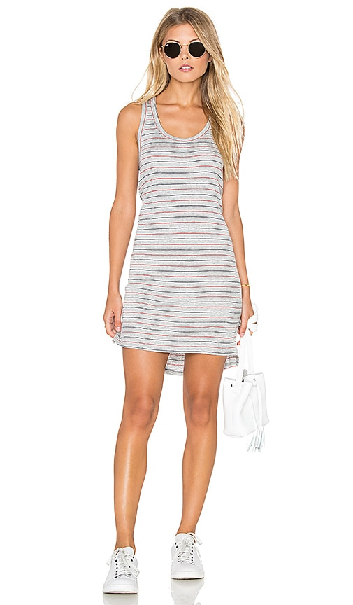 Nation LTD Nelly Racer Dress in Grey