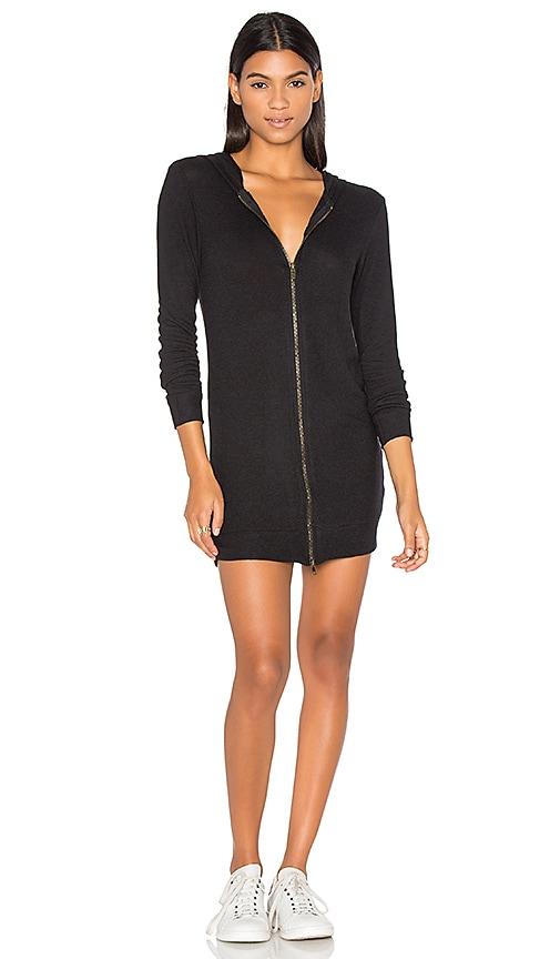 Nation LTD Laraine Hoodie Dress in Black
