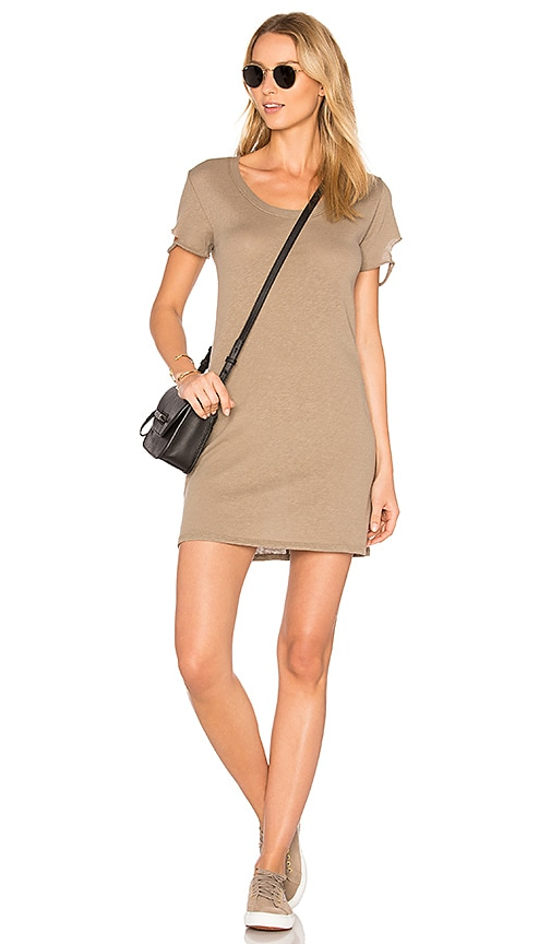 Nation LTD Layla Tee Dress in Taupe