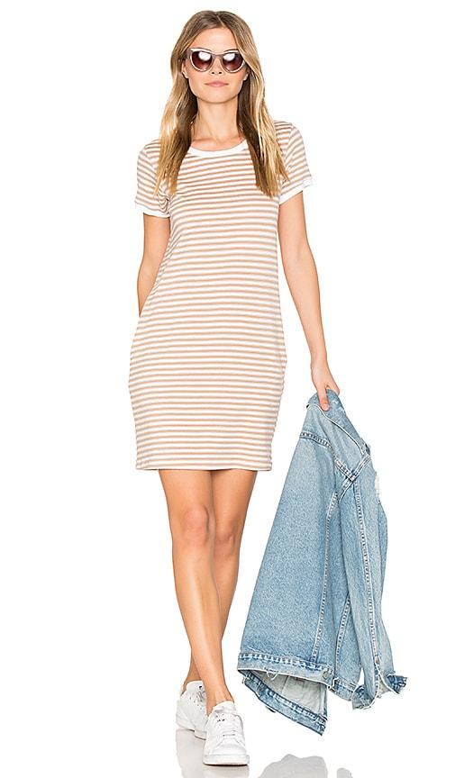 Nation LTD Olivia Pocket T Shirt Dress in Tan