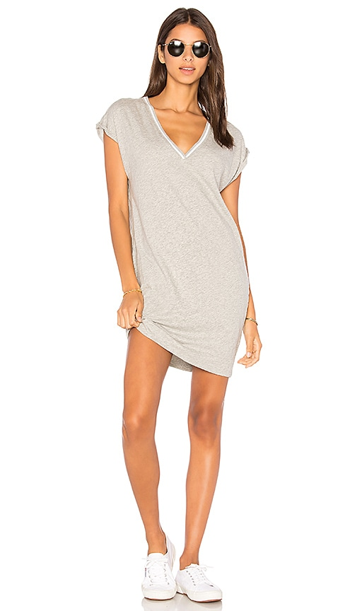 Nation LTD Steffi Deep V Pocket Dress in Gray