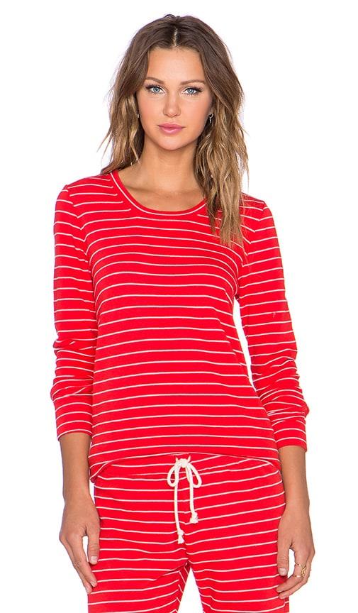 Nation LTD Stefanie Sweatshirt in Flag Red