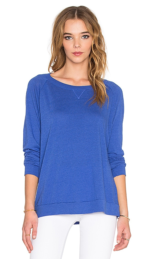 Nation LTD Raglan Sweatshirt in Royal Blue