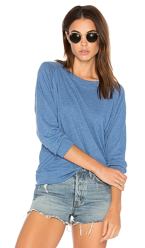 Nation LTD Raglan Sweatshirt in Blue