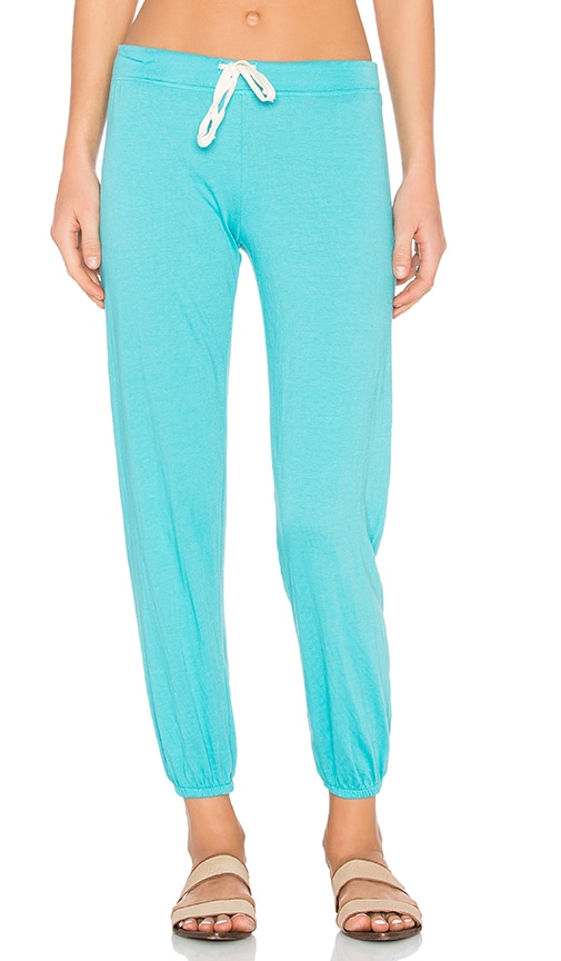 Nation LTD Medora Capri Sweatpant in Teal