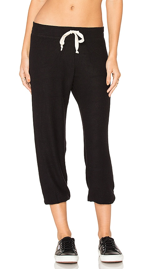Nation LTD Hacci Capri Sweatpant in Black