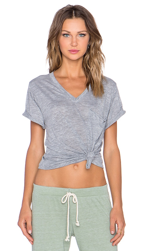 857f44d056d2 Nation LTD Lake Tahoe Deep V Tee in Heather Grey | REVOLVE