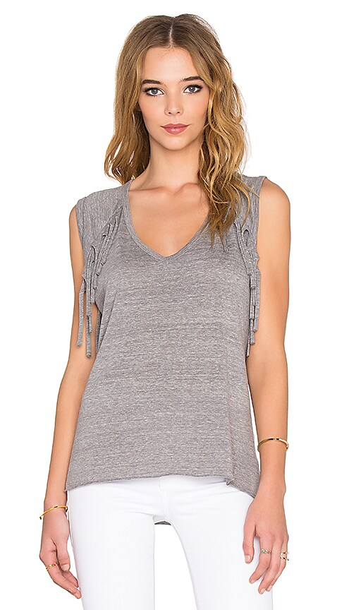 Nation LTD Natalia Fringe Tank in Heather Grey