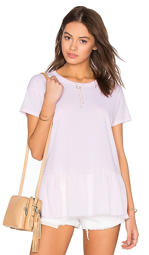 Nation LTD Fiona Ruffle Tee in Pink