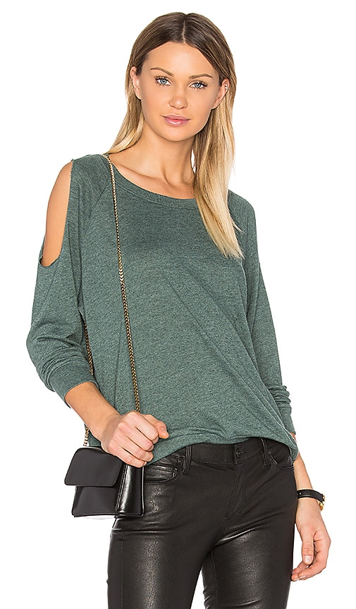 Nation LTD Taylor Cold Shoulder Top in Green