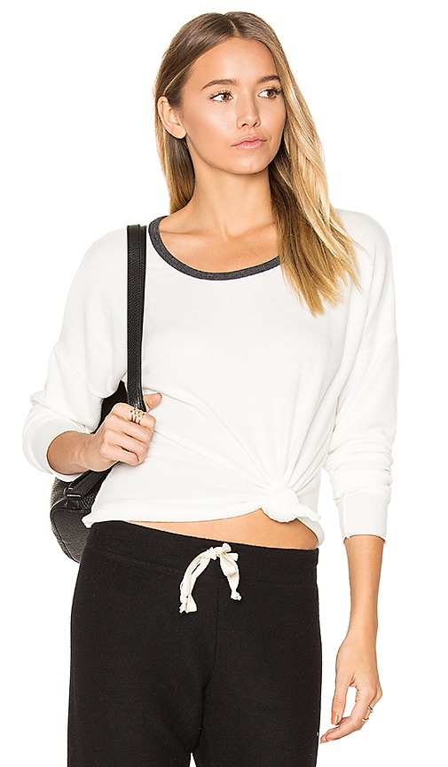 Nation LTD Noelle Crop Tee in White