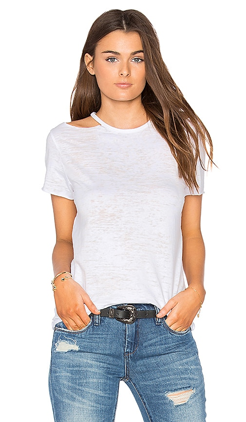 Nation LTD Eli Cold Shoulder Top in White