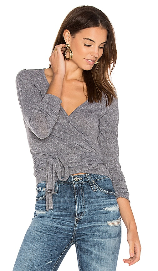 Nation LTD Juliette Wrap Top in Gray