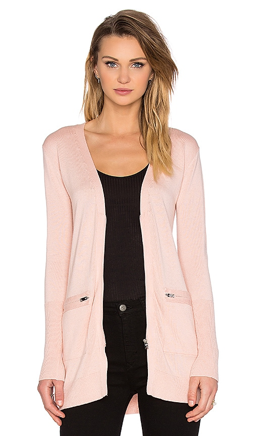 NATIVE STRANGER Cardigan with Zipper in Light Pink