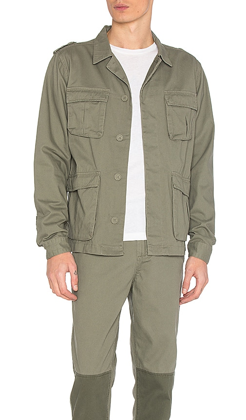 Native Youth Sharrow Jacket in Olive