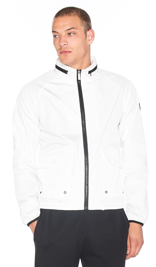 Native Youth Tech Fabric Harrington Jacket in White
