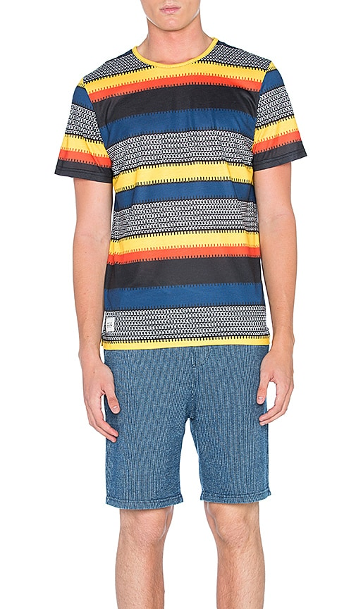 Native Youth Heatwave Stripe Tee in Yellow