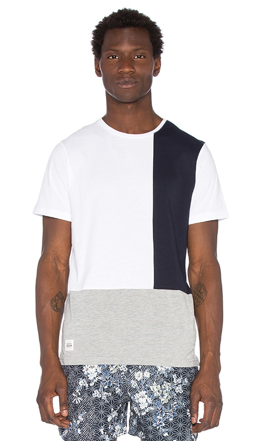 Native Youth Colour Block Tee in White