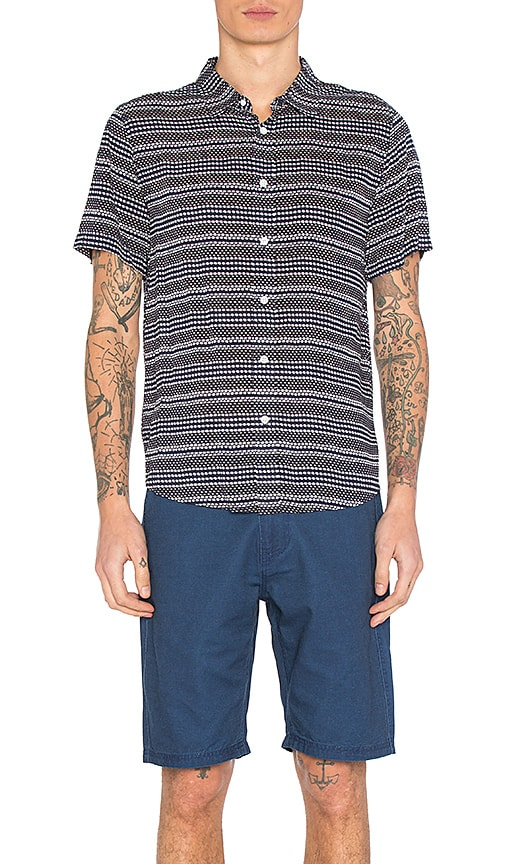 Native Youth Clovelly Shirt in Navy