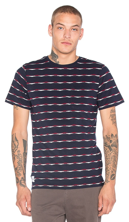 Native Youth Jacquard Heritage Tee in Navy
