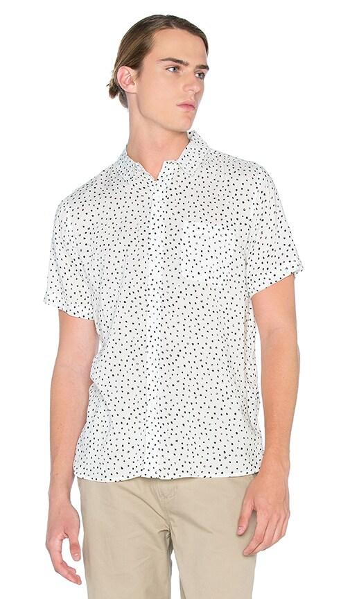 Native Youth Paintbrush Polka Dot Shirt in White & Black