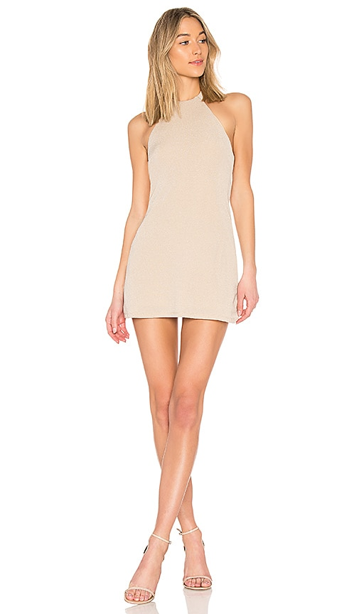 NBD Don't Turn Back Dress in Nude