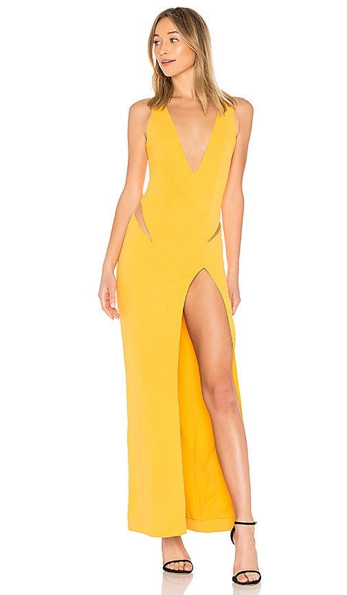 NBD Tweet Gown in Yellow