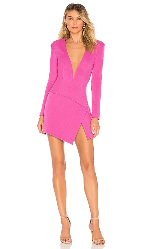NBD Night Moves Dress in Fuchsia