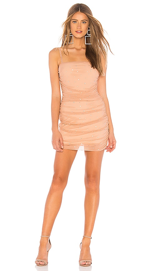 5a77e9bdfa3a NBD Kerr Embellished Mini Dress in Nude | REVOLVE