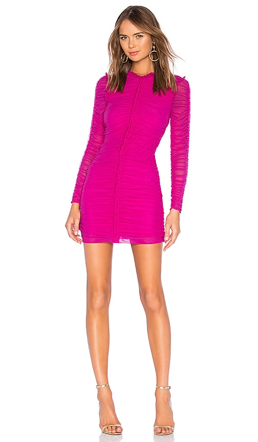77e6aa07389a NBD Las Olas Long Sleeve Mini Dress in Magenta