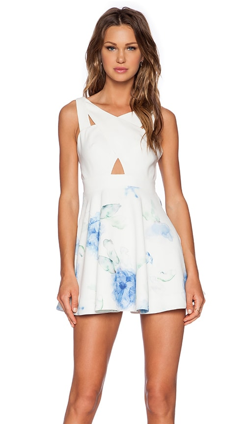 NBD Stand & Deliver Dress in White
