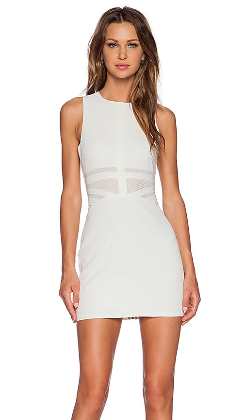 NBD x Naven Twins Penthouse Party Dress in White