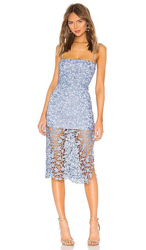 2af60d9fe401 NBD Fallon Midi Dress in Soft Blue