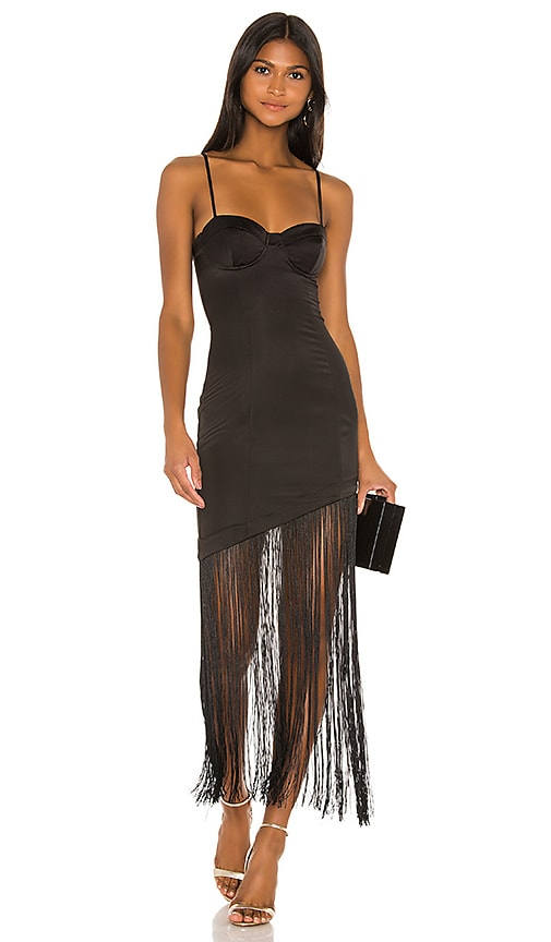 Chris Fringe Midi Dress