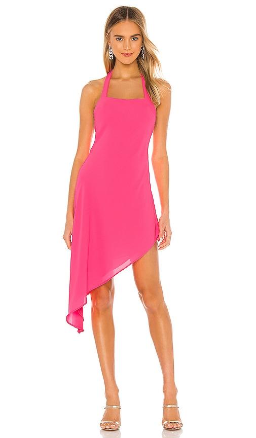 NBD Jacki Midi Dress in Neon Pink | REVOLVE