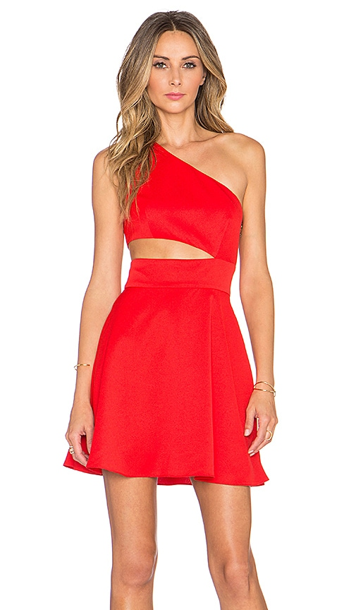 NBD x Naven Twins Break The Rules Dress in Red