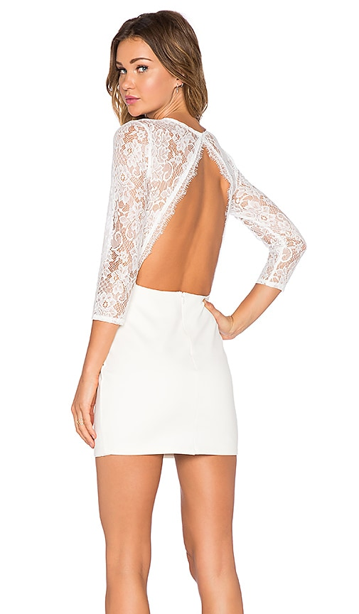 NBD x REVOLVE Lipstick Bodycon Dress in White