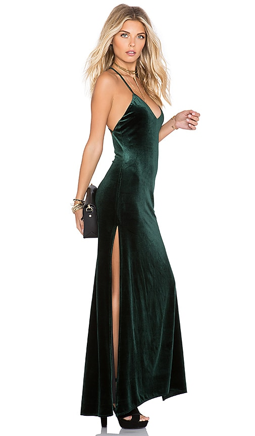 NBD x REVOLVE In The Deep Maxi Dress in Green