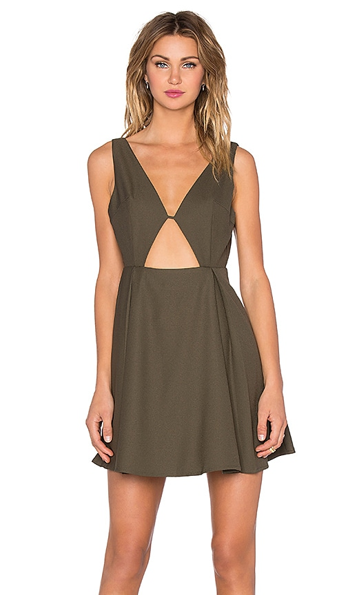NBD x REVOLVE Earned It Mini Dress in Army Green