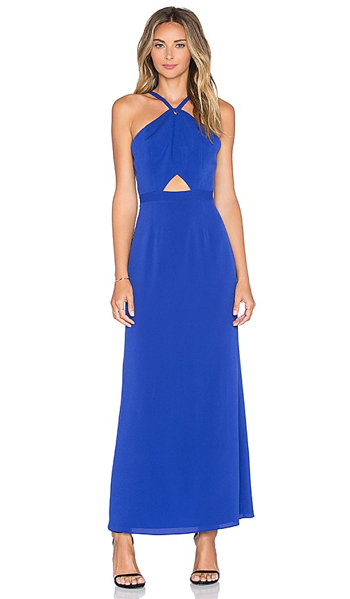 NBD x Naven Twins Real Talk Maxi Dress in Blue