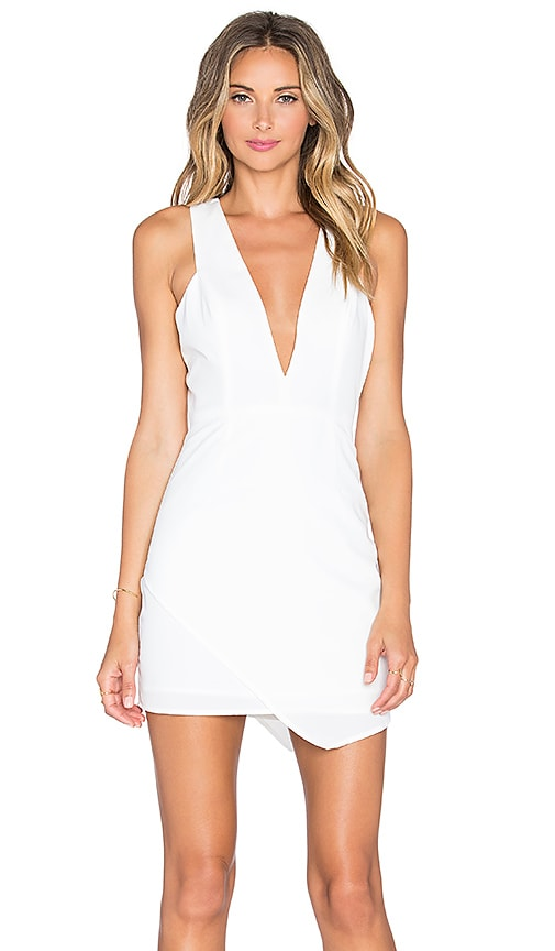 NBD x Naven Twins Dreaming Bodycon Dress in White