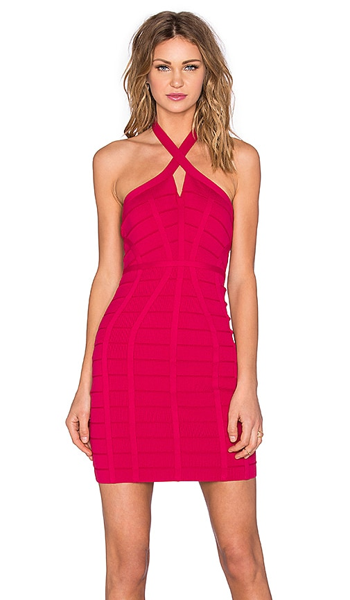 NBD x REVOLVE Twisted Bodycon Dress in Fuchsia