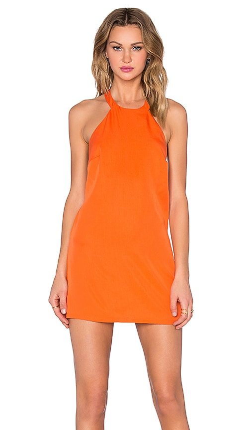 NBD Don't Turn Back Dress in Orange