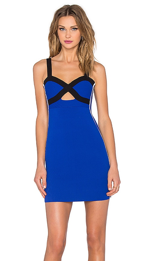 NBD x Naven Twins Game On Bodycon Dress in Cobalt