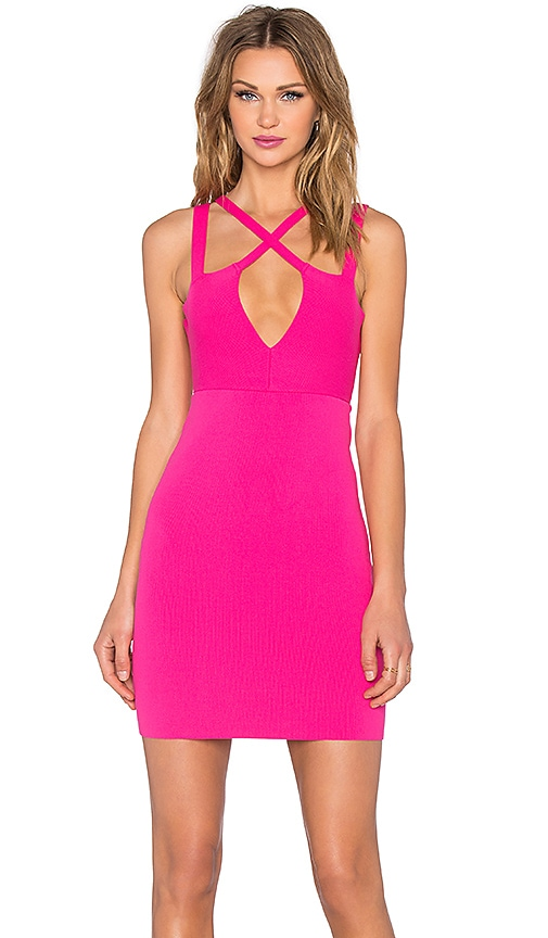 NBD x Naven Twins Choose Me Bodycon Dress in Pink