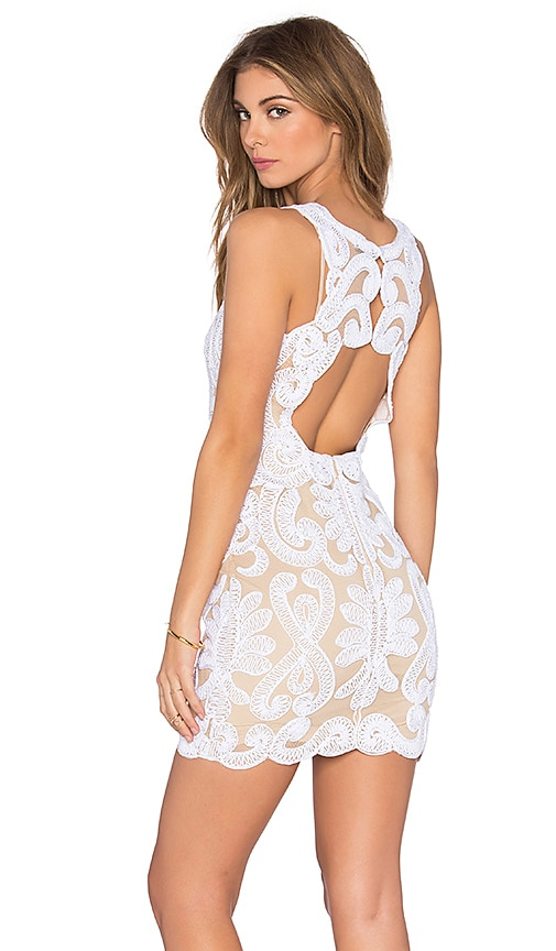 NBD x REVOLVE Embroidered Mini Dress in Ivory