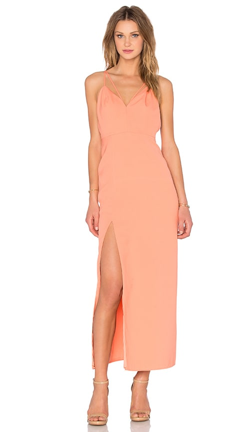 NBD x Naven Twins Will You Maxi Dress in Peach