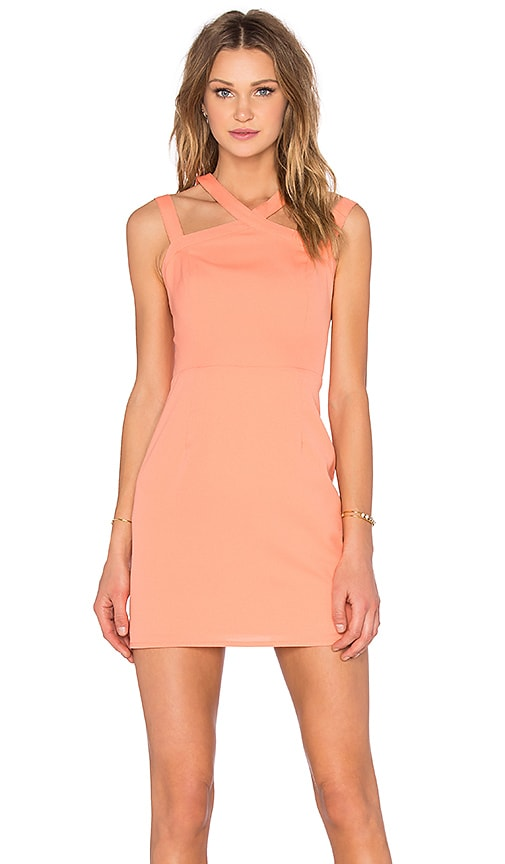 NBD x Naven Twins Electra Bodycon Dress in Orange