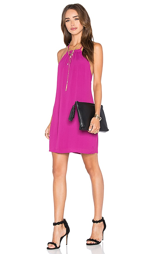 NBD x Naven Twins Hopeless Halter Dress in Fuchsia